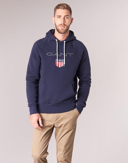 Textil Homem Sweats Gant GANT SHIELD SWEAT HOODIE Marinho