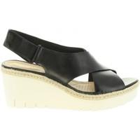 Sapatos Mulher Sandálias Clarks 26132131 PALM Negro