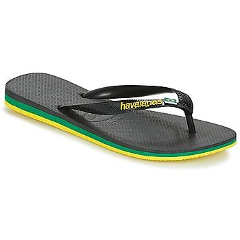 Sapatos Homem Chinelos Havaianas Brasil Layers Preto