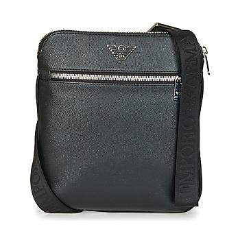 Malas Homem Pouch / Clutch Emporio Armani BUSINESS FLAT MESSENGER BAG Preto