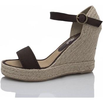 Sapatos Mulher Alpargatas Mtbali Sandálias  Tacão Compensado - Oceanside Low marrón