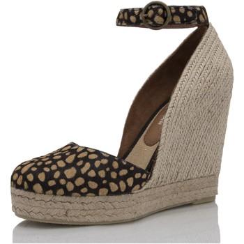 Sapatos Mulher Alpargatas Mtbali Sandálias Tacão Compensado - Altea Potro marrón
