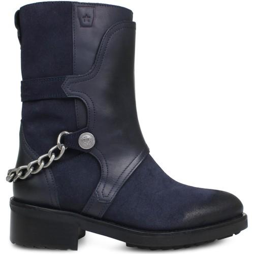Sapatos Mulher Botins Cubanas Iron100 Midnight Blue Azul