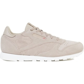 Sapatos Criança Sapatilhas Reebok Sport CL Leather Mcc Cor bege