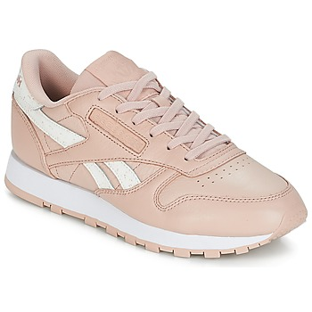 Sapatos Mulher Sapatilhas Reebok Classic CLASSIC LEATHER Rosa / Branco