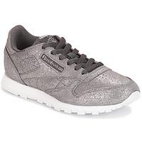 Sapatos Rapariga Sapatilhas Reebok Classic CLASSIC LEATHER J Cinza / Metálico