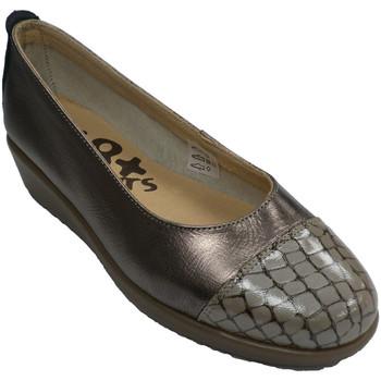 Sapatos Mulher Sabrinas 48 Horas Sapatos mulher wedge sapatos wedge crocodilo toe  em Metálico gris