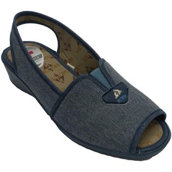 Sapatos Mulher Sandálias Muñoz Y Tercero Sapato mulher aberta no pé e no calcanhar com tira de trás  em A azul