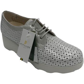 Sapatos Mulher Sapatos Pitillos Sapato esportivo para mulheres a céu aberto com laços prateados gris