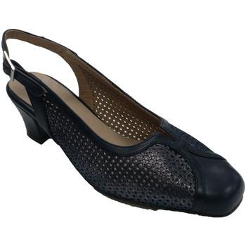 Sapatos Mulher Sandálias Trebede Sapato de vestir feminino fechado com os dedos do pé abertos  em azul