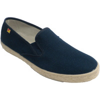 Sapatos Homem Slip on Made In Spain 1940 Sapato homem fechado modelo esparto cânh azul