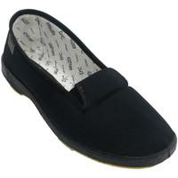 Sapatos Mulher Slip on Doctor Cutillas Bandas de borrachas de sapato de lona em negro