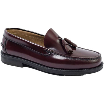 Sapatos Homem Mocassins Edward's Soleil de borracha de borracha Castellan burdeos