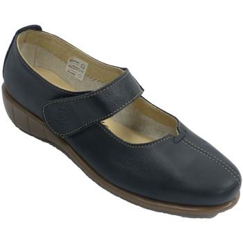 Sapatos Mulher Sabrinas 48 Horas Sapato mulher com cinto tipo merceditas azul