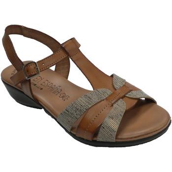 Sapatos Mulher Sandálias Togar Sandal woman comfortable gel plant marrón