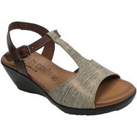Sapatos Mulher Sandálias Togar Planta de gel confortável para sandália feminina  em várias core azul