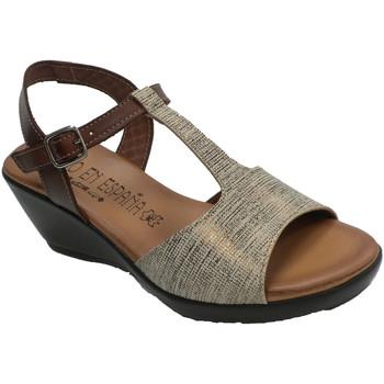 Sapatos Mulher Sandálias Togar Planta de gel confortável para sandália azul