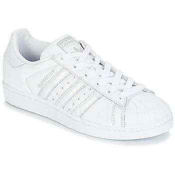 Sapatos Mulher Sapatilhas adidas Originals SUPERSTAR W Branco / Prata