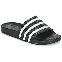 Sapatos chinelos adidas Originals ADILETTE Preto / Branco