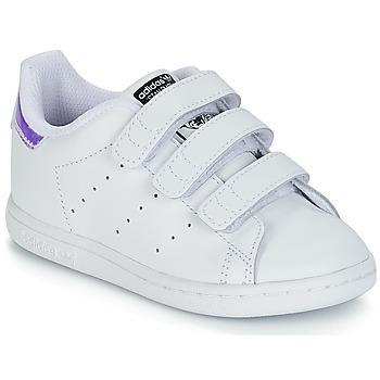 Sapatos Rapariga Sapatilhas adidas Originals STAN SMITH CF I Branco / Prata