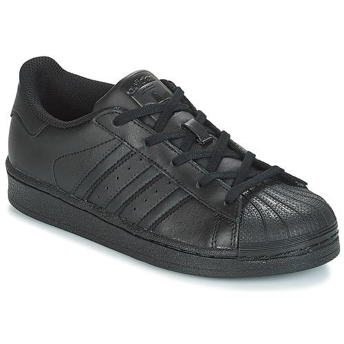 Sapatos Criança Sapatilhas adidas Originals SUPERSTAR C Preto