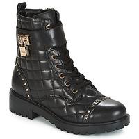 Sapatos Mulher Botas baixas Guess HOLDY Preto