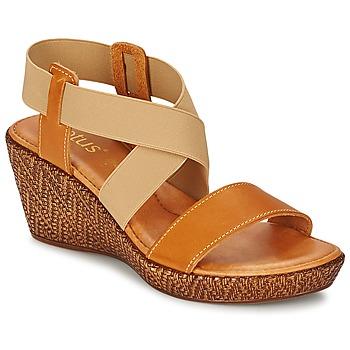 Sapatos Mulher Sandálias Lotus EMILIANO Castanho / Bege