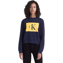 Textil Mulher Sweats Calvin Klein Jeans Sudadera Mujer Hebe True Icon Azul Azul