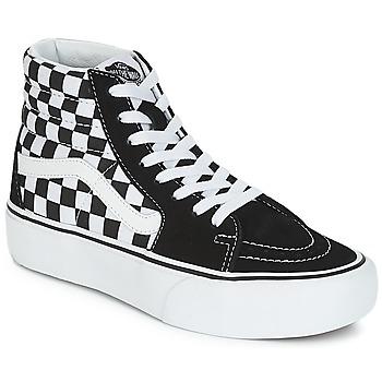 Sapatos Mulher Sapatilhas de cano-alto Vans SK8-HI PLATFORM 2.1 Preto / Branco
