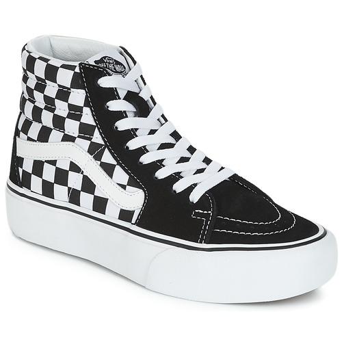 7df60be608ae4 Sapatos Mulher Sapatilhas de cano-alto Vans SK8-HI PLATFORM 2.1 Preto /  Branco