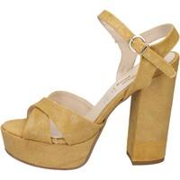 Sapatos Mulher Sandálias Geneve Shoes BZ892 Amarelo