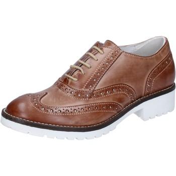 Sapatos Mulher Richelieu Crown classiche marrone pelle BZ932 Marrone
