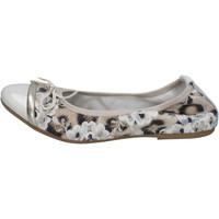 Sapatos Mulher Sabrinas Crown ballerine beige vernice tessuto BZ939 Beige