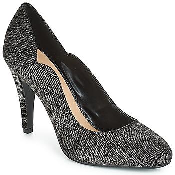 Sapatos Mulher Escarpim Moony Mood JANNEE Preto / Prateado