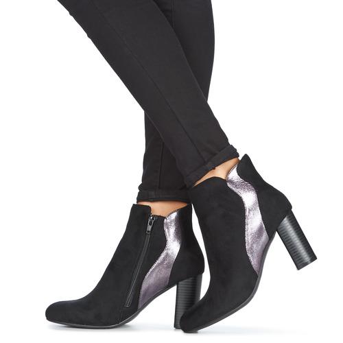 Moony Mood JERDA Preto - Entrega gratuita- Sapatos Botins Mulher 44