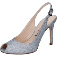 Sapatos Mulher Sandálias Capitini sandali argento glitter BZ492 Argento