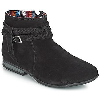 Sapatos Mulher Botas baixas Minnetonka DIXON BOOT Preto