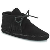 Sapatos Mulher Botas baixas Minnetonka CLASSIC FRINGE Preto