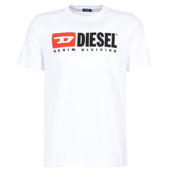Textil Homem T-Shirt mangas curtas Diesel T JUST DIVISION Branco