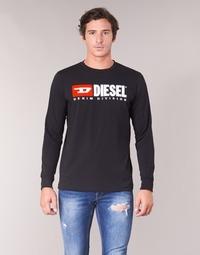 Textil Homem T-shirt mangas compridas Diesel T JUST LS DIVISION Preto