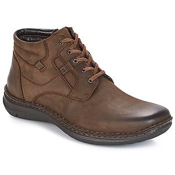 Sapatos Homem Botas baixas Josef Seibel Anvers 35 Castanho