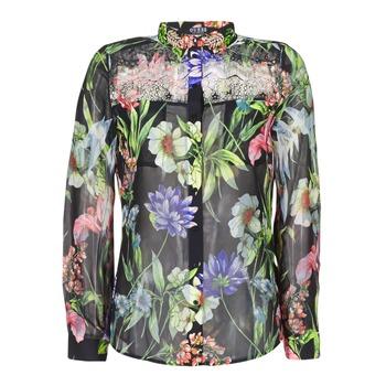 Textil Mulher camisas Guess CLOUIS Preto / Multicolor