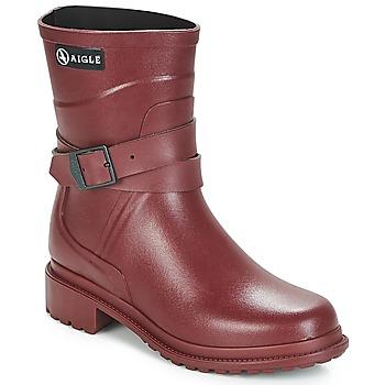 Sapatos Mulher Botas de borracha Aigle MACADAMES MID Bordô