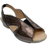 Sapatos Mulher Sandálias 48 Horas Mulher, sandália, borracha, peito  em Metálico gris