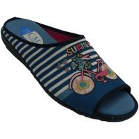 Sapatos Mulher Chinelos Calzamur Chancla mulher para estar em casa Calzam azul