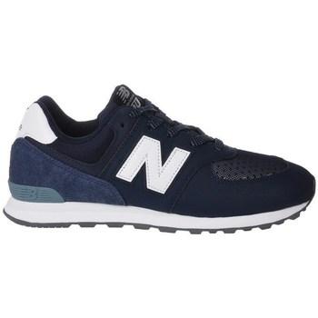 Sapatos Criança Sapatilhas New Balance GC574D4 Branco, Azul marinho