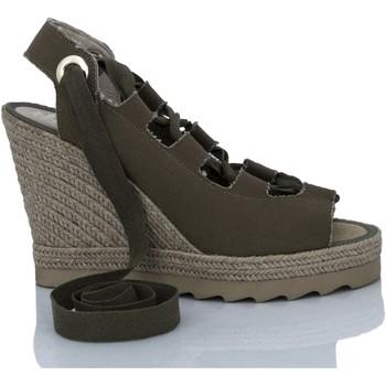 Sapatos Mulher Sandálias Mtbali Sandálias Tacão Compensado - IBIZA KAKI verde