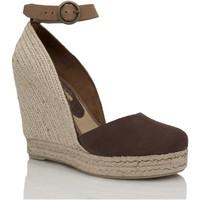 Sapatos Mulher Sandálias Mtbali Sandálias Tacão Compensado - Altea Marrón marrón