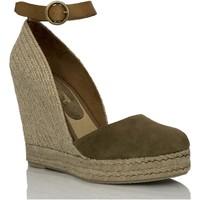 Sapatos Mulher Sandálias Mtbali Sandálias Tacão Compensado - Altea Kaki verde
