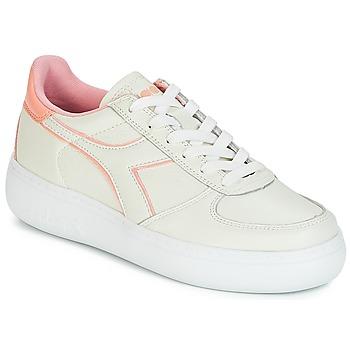 Sapatos Mulher Sapatilhas Diadora B.ELITE L WIDE WN Cru / Rosa
